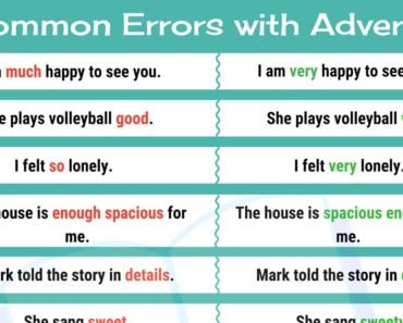 Common Grammar Mistakes: Mistakes with Adverbs in English 2