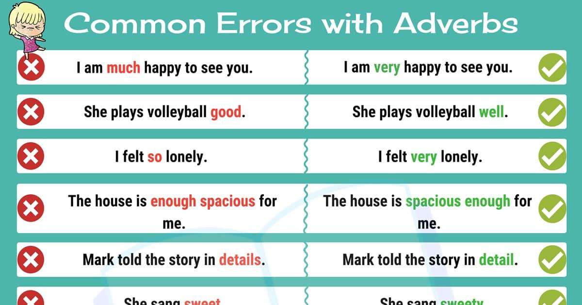 Mistakes with Adverbs: Common Grammar Mistakes in English 2