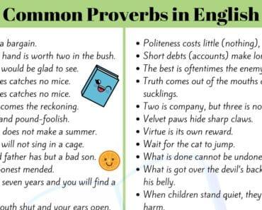 Proverbs - ESL Teachers