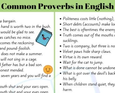 50+ Useful and Important English Proverbs for ESL Students 1