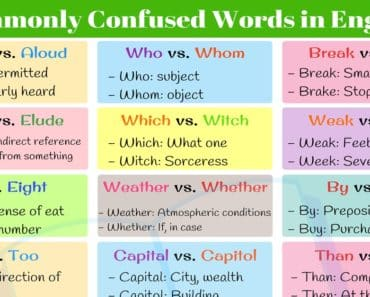 Top 20+ Commonly Confused Words in English 3