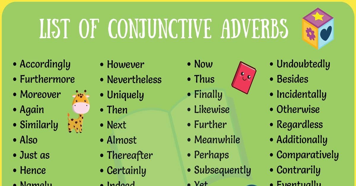 List of 50+ Popular Conjunctive Adverbs for English Students 3