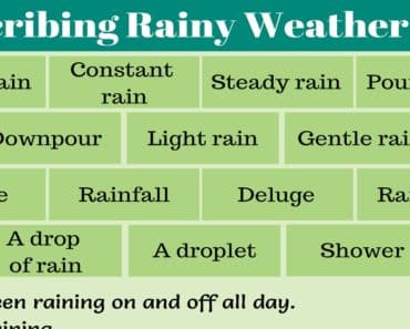 Describing Rainy Weather
