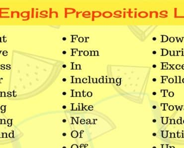 Prepositions List: Learn 45+ Useful English Prepositions with Examples 1