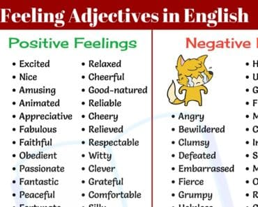 Feeling Adjectives: 100+ Words for Talking about Feeling Good or Bad 4