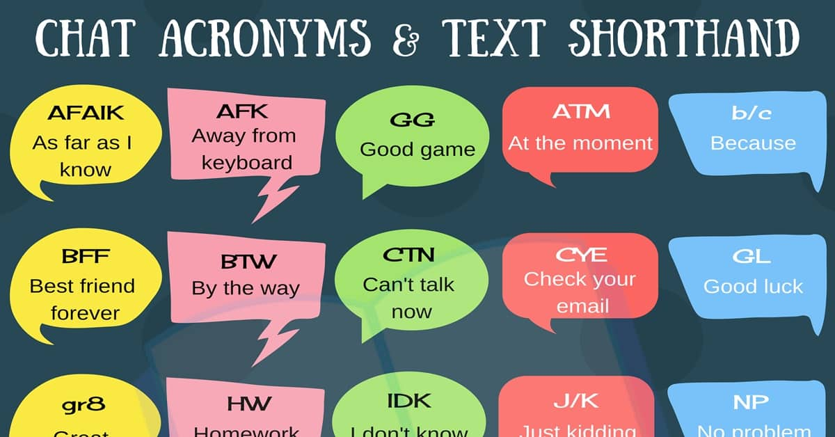 Chat Acronyms