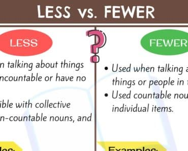 LESS vs FEWER: How to Use Them Correctly? 1