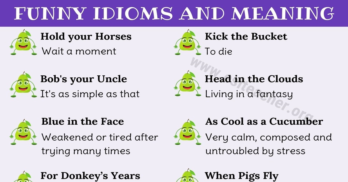 Funny Idioms in English