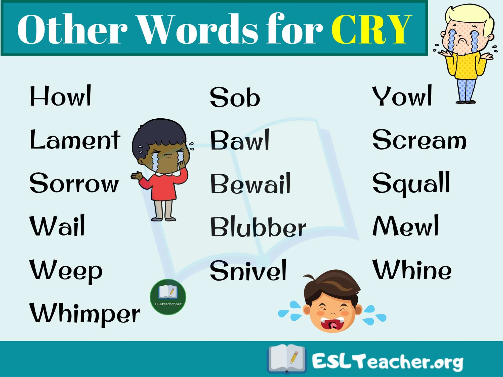 CRY Synonyms - Synonyms for Cry