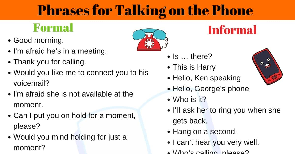 35+ Useful Expressions for Talking on the Phone 2