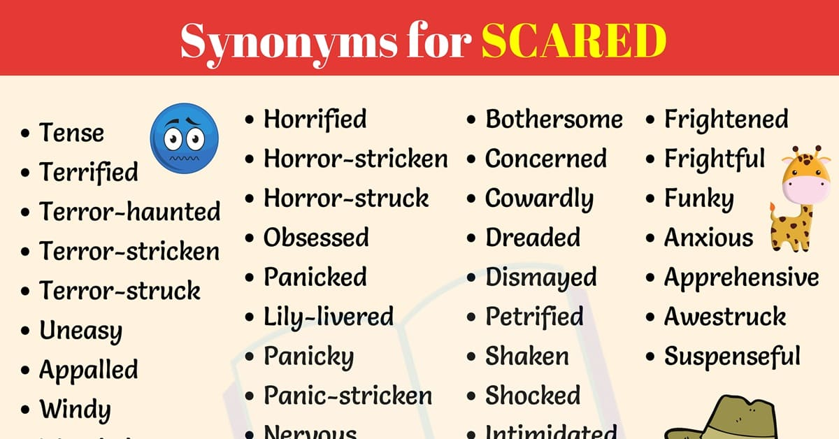 Synonyms for SCARED