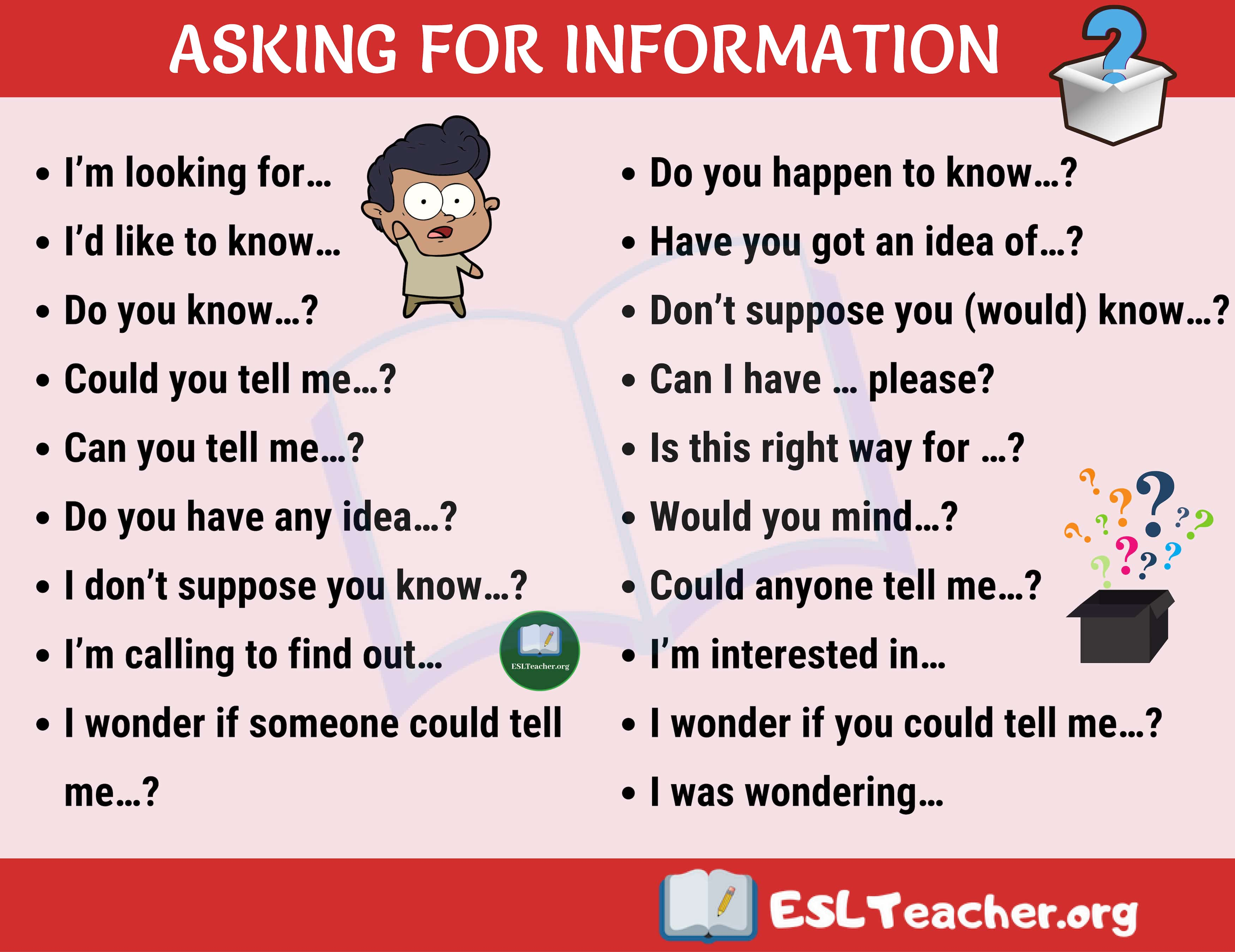 Asking for Information