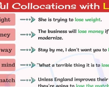 10 Common Collocations with LOSE in English 1