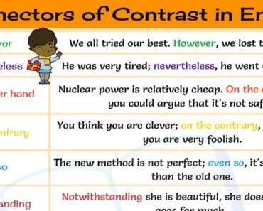 15+ Useful Connectors of Contrast in English Grammar 1