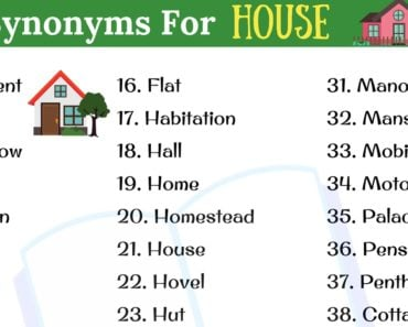 HOUSE Synonym: 40+ Popular Synonyms for HOUSE in English 3