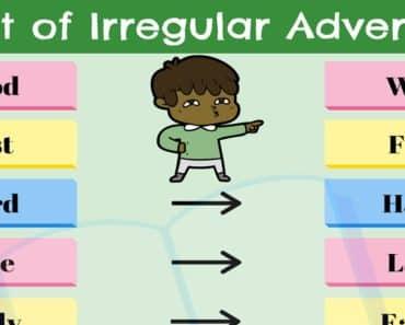 List of 9 Useful Irregular Adverbs in English 1