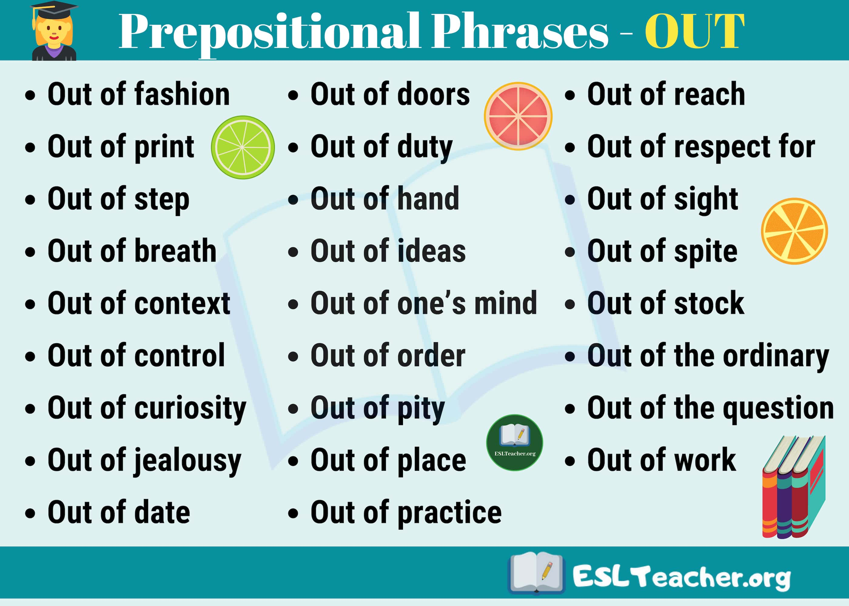 Prepositional Phrases with OUT