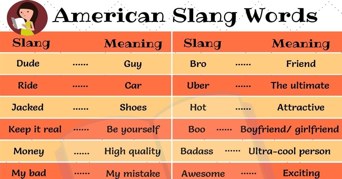 American Slang Words