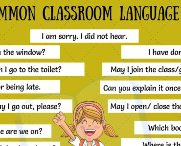 Classroom Language: 29 Useful Classroom English Expressions for ESL Students 1