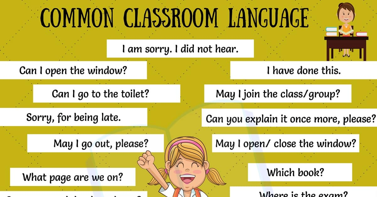 Classroom Language: 29 Useful Classroom English Expressions for ESL Students 2