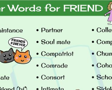 Synonyms for FRIEND: 30 Friend Synonyms You Should Be Using 3