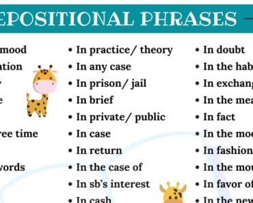 Prepositional Phrases with IN: 65+ Useful Prepositional Phrases - IN 1
