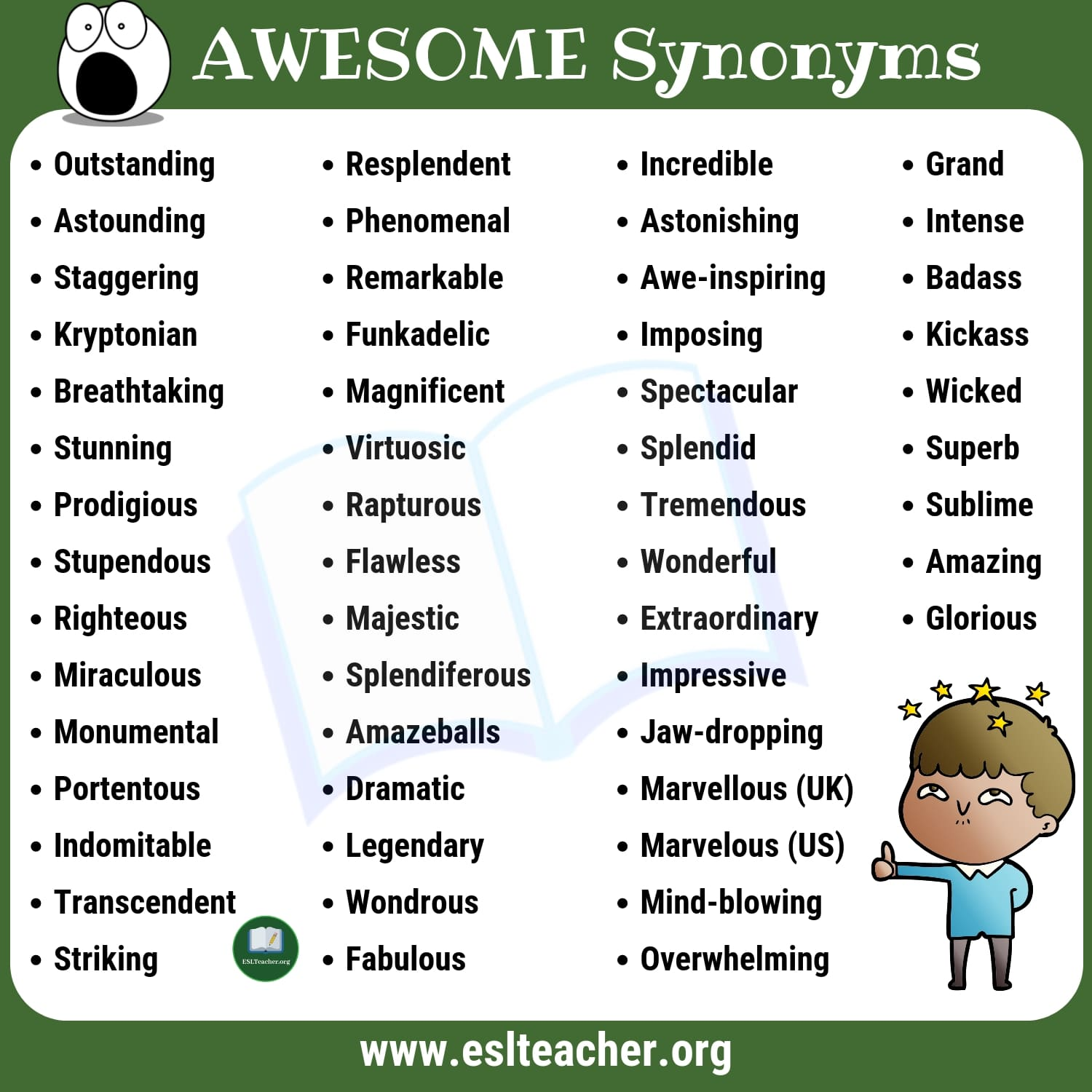 AWESOME Synonyms