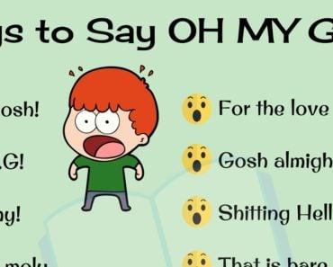 Ways to Say OH MY GOD!