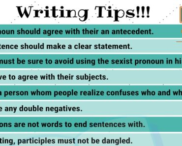 Writing Tips: 40 Smart Tips on How to Write Better 2