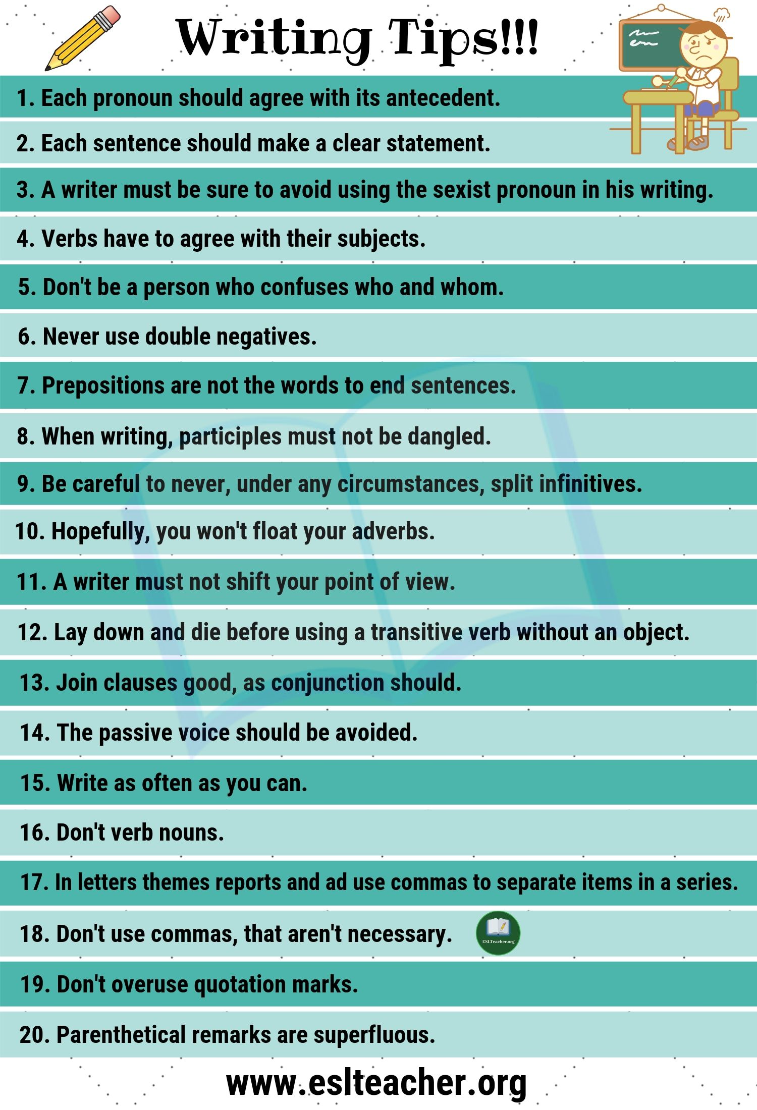 Writing Tips - How to Write Better