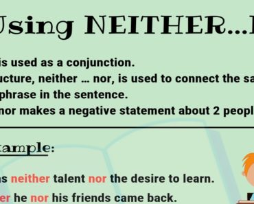 How to Use NEITHER NOR